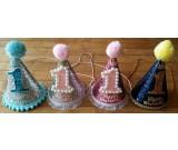 1st Birthday Shimmering Cone Hat