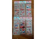 Cars Bubble Stickers, 6 sheets