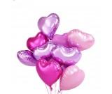 9pcs Heart Shaped Balloon Bundle