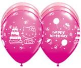 "Hello Kitty Birthday 12"" Round Special Assortment Latex Balloon"
