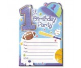 1st Birthday All Star Invitations