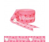 Hello Kitty Crepe Streamer Party Supplies