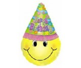 Happy Birthday Smiley Balloon