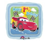 "18"" Disney Cars Happy 1st Birthday Square Balloon"