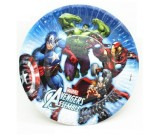 Avengers 7in Round Cake Plates 8pcs