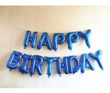 "16"" HAPPY BIRTHDAY blue colours foil balloons"
