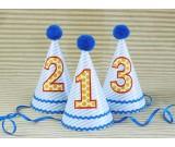 Blue Striped 1st Cone Hat