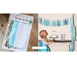 Blue Theme Paper Tassels Garland 20pcs set