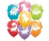12in Dinosaurs Printed Latex Balloon