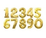 16in Gold number Foil Balloon