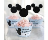Mickey 1st Birthday Cupcake skirting and cupcake pics Set 12pcs