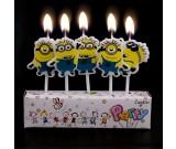 Minion Pick Candles Set