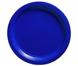 Royal Blue Paper Dessert Plates 25pcs