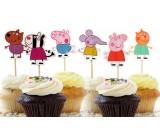 Peppa Pig Cupcake Pics 12pcs