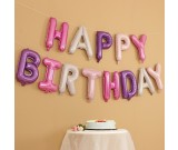 "16"" HAPPY BIRTHDAY girl colours Foil Balloons"