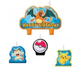 Pokemon Birthday Candles 4pcs