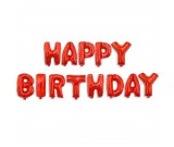 """16"""" HAPPY BIRTHDAY Red Wording Foil Balloons"""