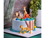 Safari's World 6 Pieces Cake Topper Set