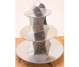 Silver Colour Cupcake Stand