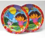 "Dora & Friends 7"" Plates"