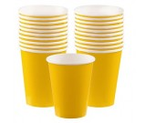 Sunshine Yellow Paper Cups 20pcs